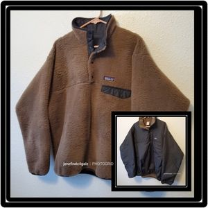 Patagonia Vintage Rare Reversible Snap-T Pullover